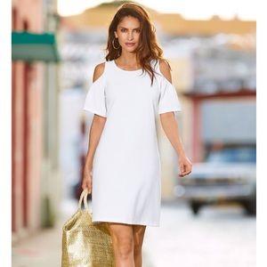 Boston Proper cold shoulder sheath dress
